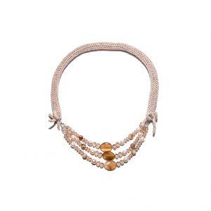 Moonstone single chain cashmere necklace