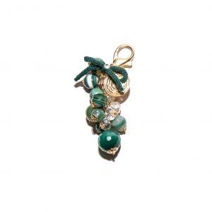 Green agate cashmere pendant