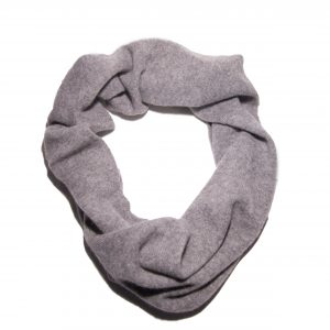 Light grey cashmere ring scarf