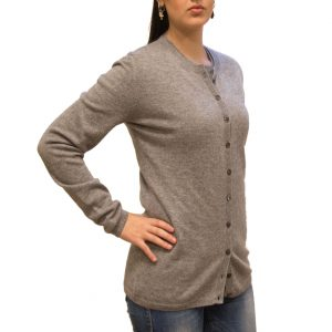 Light grey cashmere cardigan