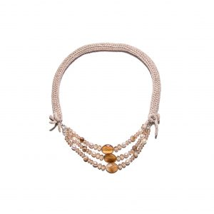 Moonstone single chain cashmere necklace