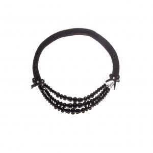Onyx single chain cashmere necklace