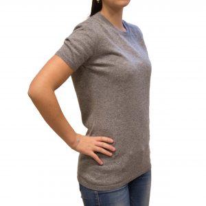 Light grey cashmere T-shirt