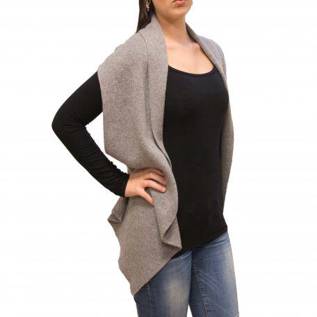 Light grey cashmere gilet