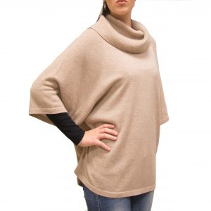 Beige cashmere cape