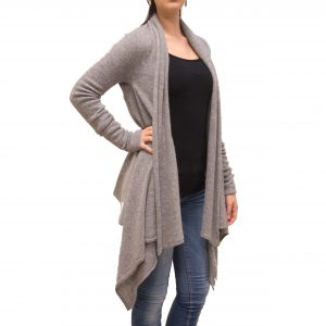 Light grey long cashmere cardigan