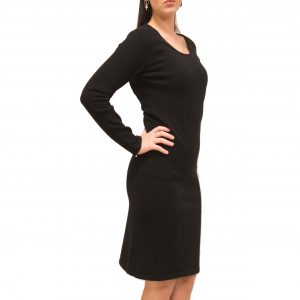 Crewneck cashmere dress
