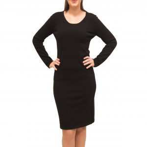 Crewneck cashmere dress front